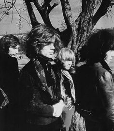Charlie, Mick, Brian and Bill. Photo-shoot on Primrose Hill, London 1968