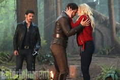 "Jennifer Morrison will return for what the 'OUAT' bosses are calling ""an emotional curtain call"" Captain Swan, Captain Hook, Camisa Do Star Wars, Once Upon A Time, Ouat Season 7, Love Is Not Enough, Abc Shows, Hook And Emma, Pirate Life"