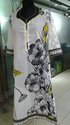 Hand painted Punjabi Suit