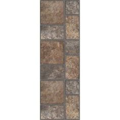 TrafficMASTER Allure 12 in. x 36 in. Yukon Brown Resilient Vinyl Tile Flooring (24 sq.ft/case)-212011.0 at The Home Depot