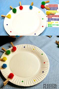 Preschool Activities Color Matching Plates