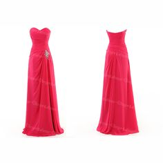 Red Sweetheart Neck Long Homecoming Celebrity Formal Bridal Prom Party Evening Dress For Gown on Luulla