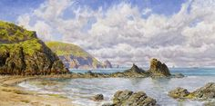 Forest Cove, Cardigan Bay (version 2, commission) 1883, 15x30in