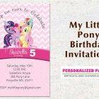 My little pony birthday party invitations