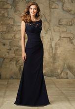Largo de la envoltura de la gasa de dama de honor vestidos azul marino 2015 sexy barato recoger más el tamaño boda vestido de fiesta gaun pengantin BD_043(China (Mainland))