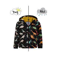 HOLLY ET BEAU Imperméable Manteau compressible Dinosaures avec changement de couleur