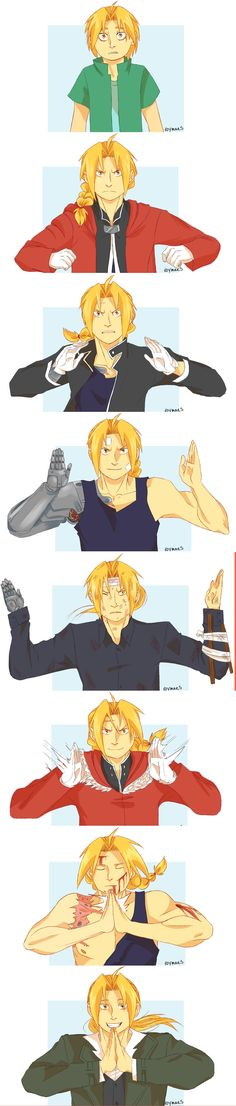 "Roymaes:  ""The boy who can perform alchemy without a transmutation circle… Edward Elric… the Fullmetal Alchemist!"""