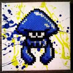 Splatoon - Perler Bead/Painting Project by Vyrons-Attic
