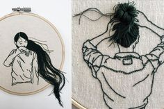 Diy Embroidery Art, Couture, Little Things, Motifs, Needlepoint, Contemporary Embroidery, Galleries, Artists, Wool