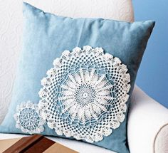 A Diy Doily cushion! 15 Fascinating Crafts With Lace Doilies You Should Make Immediately!