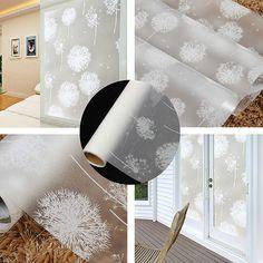 40x200cm Removable Dandelion Window Sticker Recyclable Glass Casement Film
