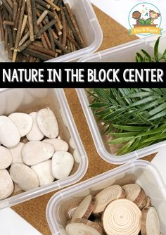 Center Set Up in Preschool Natural Items in the Block Center. Incorporate natural materials in your blocks center.Natural Items in the Block Center. Incorporate natural materials in your blocks center. Block Center Preschool, Science Center Preschool, Preschool Classroom Setup, Science Area, Preschool Rooms, Toddler Classroom, Preschool Curriculum, Preschool Activities, Preschool Learning Centers