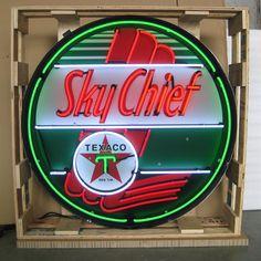Neonetics 9TXSKY Texaco Sky Chief Neon Sign In Metal Can | The Mine