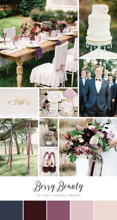 Berry Beauty – Romantic Outdoor Wedding Inspiration in Blackberry & Dusky Plum