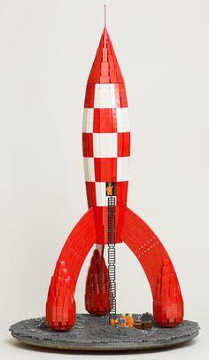 TintinRocketView | Tintin rocket on the Moon | gonkius | Flickr