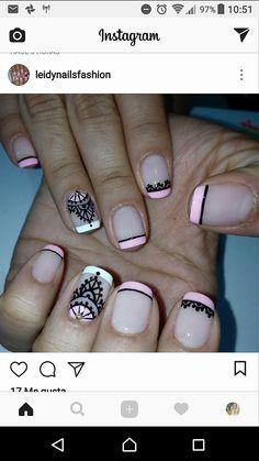 French Tip Nail Art, Gel Nail Designs, Creative Nails, Cute Nails, Nail Polish, Make Up, Tattoos, Beauty, Nail Bling