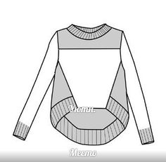 Knitting Patterns, Sewing Patterns, Sweatshirt Refashion, Technical Drawing, Knit Fashion, Dressmaking, Diy Clothes, Baby Knitting, Sport Outfits
