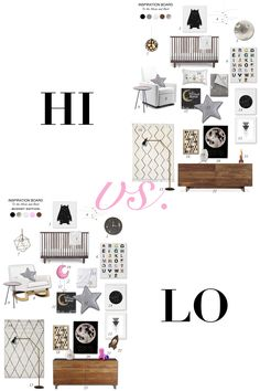 """Hi/ Lo Versions of """"To the Moon and Back"""" Style Board by @lexandlivedesign (www.lexandliv.com)"""
