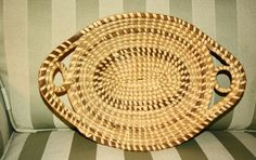 GULLAH SWEETGRASS BREAD BASKET FROM CHARLESTON SC GOOD CONDITION AND GREAT PRICE - $39.99