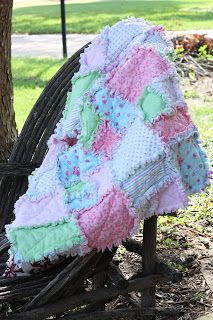Several years ago, the girls at our church began making these quilts for each new baby.  A baby boom occurred soon after, so we began limiting it to