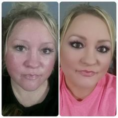 Steps using all Younique products 1. Primer 2. Touch foundation 3. A way darker concealer for contouring 4. blend blend blend 5. Mineral pressed powder in your normal shade. Then of course the rest blushers, eyeliner brows- using pigments and 3D fiber lash mascara and lipgloss. You can get all of this and more at : https://www.youniqueproducts.com/deborahshearen/