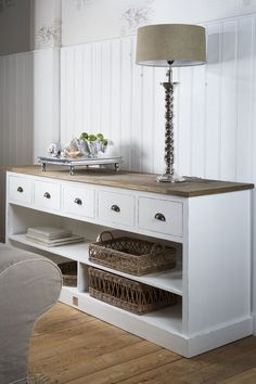 Newport Buffet 195 cm - Cabinets - Living Room - Everything you need for a room - Collection My Living Room, Home And Living, Rivera Maison, Beach Interior Design, Muebles Living, Inspired Homes, Coastal Decor, Newport, Painted Furniture
