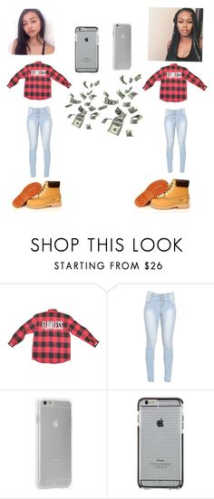 """""""Me and bestfriend going to the fair    Aliyahh"""" by trillestquenn ❤ liked on Polyvore featuring Timberland and Case-Mate"""