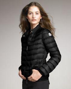 Lightweight Puffer Jacket, Black by Moncler at Bergdorf Goodman.