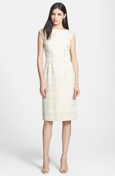 Tory Burch 'Fatima' Woven Sheath Dress available at #Nordstrom