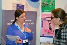 Odwiedzający mogli uzyskać informacje o programach Unii Europejskiej skierowanych do ludzi młodych.