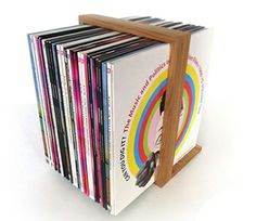 The unique B-Side Vinyl Record Rack from sugartrends.com