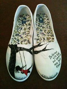 Hand Painted Shoes- Swing