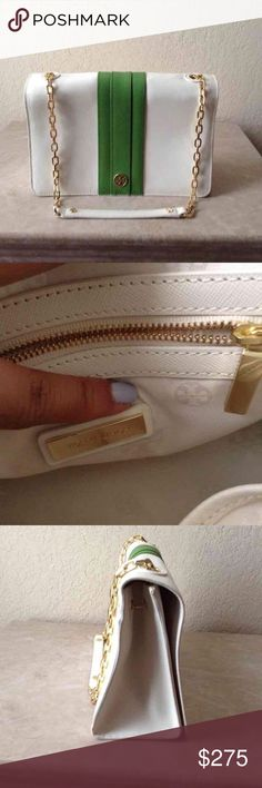 """Tory Burch Robinson Shoulder Bag Brand new with tags!  It's an absolute beauty but I just never used it.  Comes with dust bag  Features:  Magnetic closure  Polished gold tone hardware  1 interior zipper compartment with TB logo  1 cellphone slip pocket   7.5"""" H x 11"""" W x 4"""" D  Retails $395 Tory Burch Bags Shoulder Bags"""