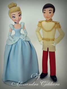 Cinderella & Prince Charming   Alessandro Caldeira   Gumpaste Figures