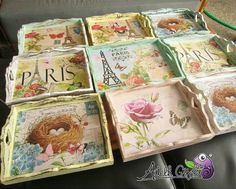 Tepsiler Napkin Decoupage, Decoupage Vintage, Decoupage Paper, Decoupage Furniture, Decoupage Ideas, Vintage Furniture, Diy Furniture, Diy Arts And Crafts, Diy Crafts To Sell