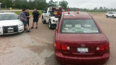 Driver rescued after vehicle plunges into Lake Houston.