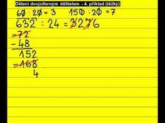 Písemné dělení dvojciferným dělitelem ... 632 : 24 - YouTube
