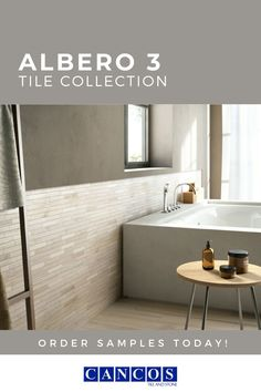Albero 3 from Cancos Tile is a durable porcelain that is built to last- even in your bathroom! This tile is also made to be used on both walls and floors, opening up even more options! Check out our website and order your sample today!