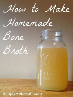How to Make Homemade Bone Broth – Simply Rebekah Don't throw away those chicken or turkey bones! Instead you can easily make a healthy bone broth that you can use in a variety of recipes. Turkey Recipes, Paleo Recipes, Real Food Recipes, Soup Recipes, Turkey Tenderloin Recipes, Crockpot Recipes, Yummy Recipes, Chicken Recipes, Yummy Food