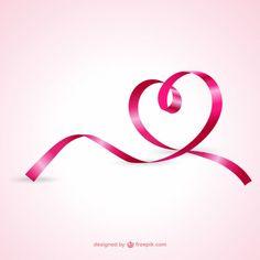 Coração da fita rosa Vetor grátis