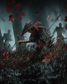 Medieval, Ghost Of Tsushima, Samurai Armor, Sunset Wallpaper, Poster S, Japan Art, Video Game Art, Character Design Inspiration, Cool Artwork