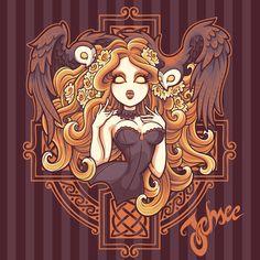 celtic, owl, corset, redhead, shirt, flowers, gothic, halloween