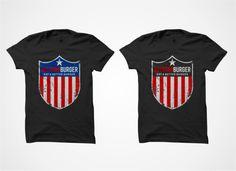 American Themed Burger Restaurant T-Shirt by MycroBurst designer acidxxx.
