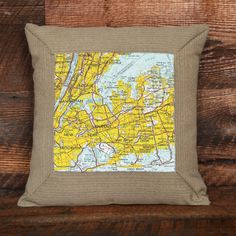 New York City Topographic Pillow | New York States of Mind Marketplace