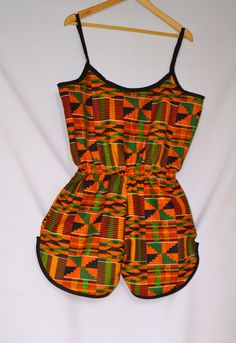 Items similar to OJuju Calabar Jumpsuit on Etsy African Dresses For Kids, African Wear Dresses, African Fashion Ankara, Latest African Fashion Dresses, African Print Fashion, Africa Fashion, African Attire, African Clothes, African Swimwear