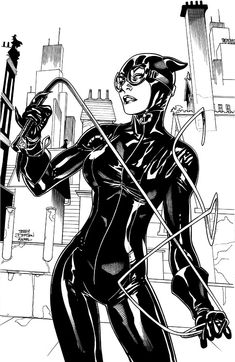 CATWOMAN: FUTURES END #1 Cover art by Terry Dodson and Rachel Dodson