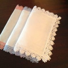 White Placemats, Linen Placemats, Personalised Placemats, Lace Beadwork, Linens And Lace, Diy Curtains, Linen Fabric, Fabric Crafts, Napkins