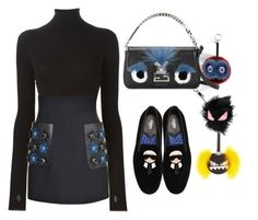 """Fendi Monster's"" by ellenfischerbeauty ❤ liked on Polyvore featuring Fendi"