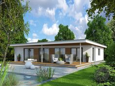 Fertighaus bungalow modern  Witte bungalow, deel met verdieping | Huizen Exterieur | Pinterest ...