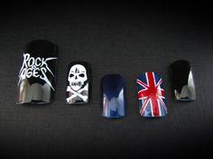 Rock N' Roll Style Acrylic Nails by Svetlana Leino blackouthair.fi #rockofages #acrylic #nails